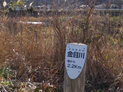 金目川海から2.2km標柱