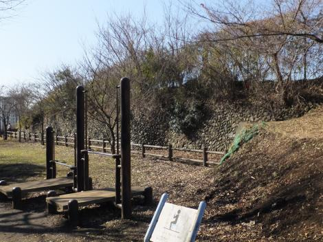 大坂台公園・玉石の石垣