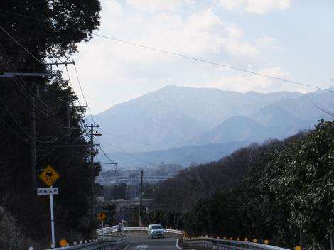 陸軍士官学校配水池付近より大山を望む