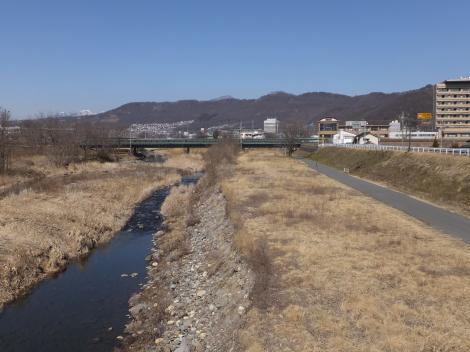 長松寺橋より荒川を望む