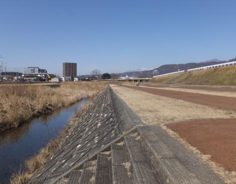 新荒川橋付近の荒川