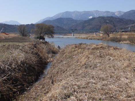 印川河口・笛吹川に合流