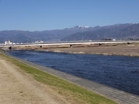 笛吹川・石和橋付近