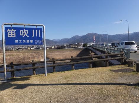 笛吹橋・国土交通省の標識