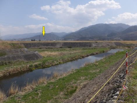 横川吐口ゲートより対岸を望む