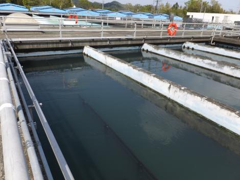 伊勢原浄水場・フロック形成池