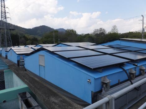 伊勢原浄水場・太陽電池