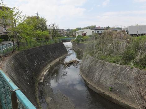 旧鶴見川・新高木橋付近