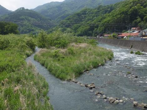 馬渡橋より中津川下流を望む