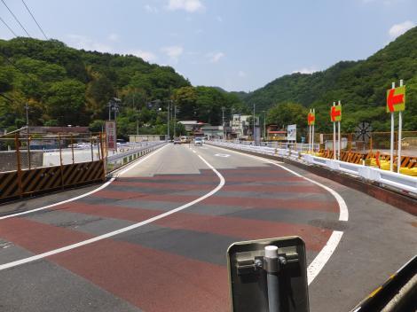 中津川・馬渡橋仮設橋
