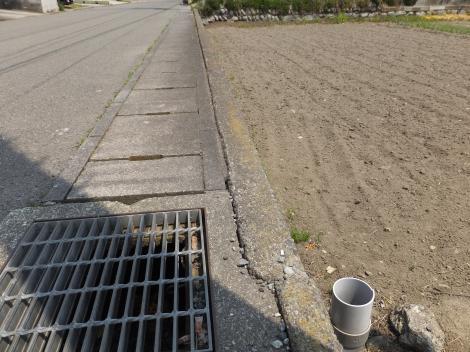 田代頭首工用水路・田代運動公園付近
