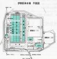 伊勢原浄水場平面図