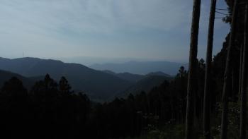 高野山方面の山並み