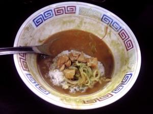 麺屋 丈六 カレーチキンラーメン(〆飯)