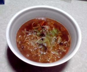 三重 亀山ラーメン 牛骨味噌味(できあがり)