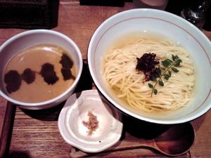 麺と心 7 雲丹白湯のつけそば ~帆立出汁の浸し麺style~