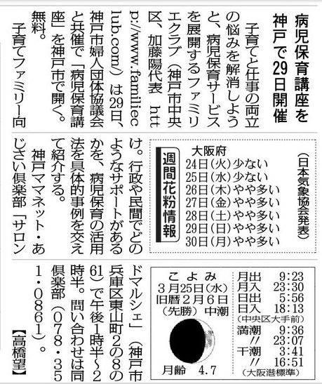 毎日新聞 大阪版 20150324