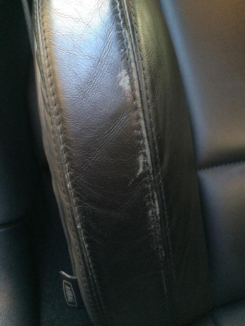 レザーシート擦れ補修 BMW M3