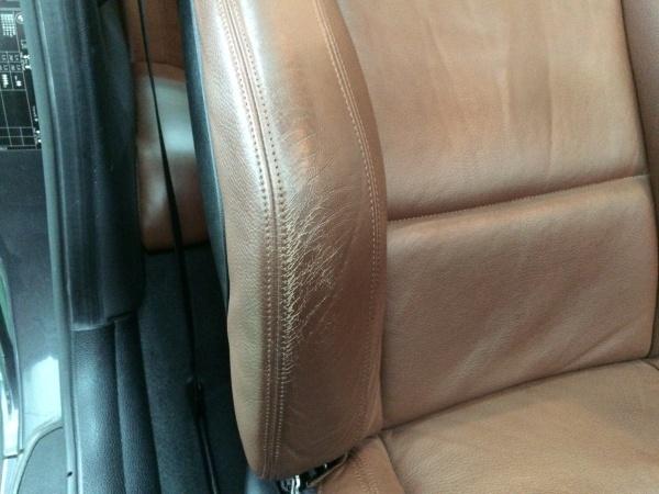 BMW 135i レザーシート 擦れ・傷補修