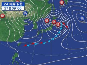 金曜の天気図
