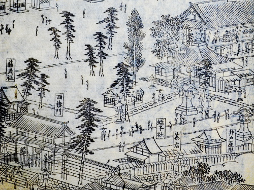 「花洛名勝図会」より祇園社元三大師堂