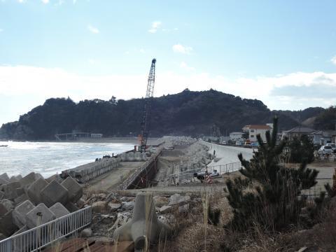 久ノ浜 波立海岸の防潮堤工事