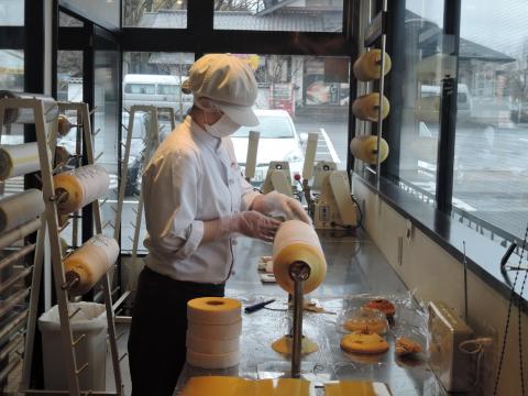 米粉バームクーヘンの製造