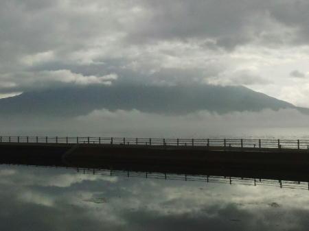 4月6日の朝の桜島