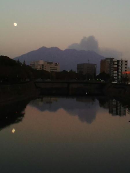 20150405桜島と月
