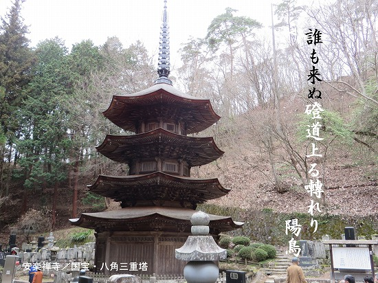 安楽禅寺国宝八角三重塔