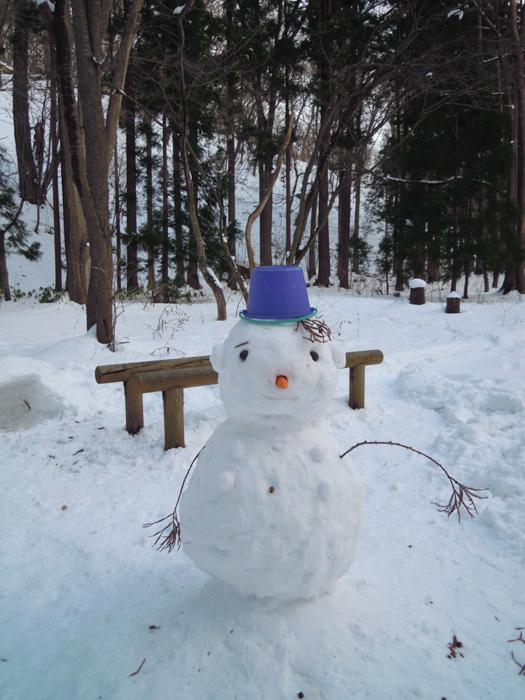 円山の雪だるま。