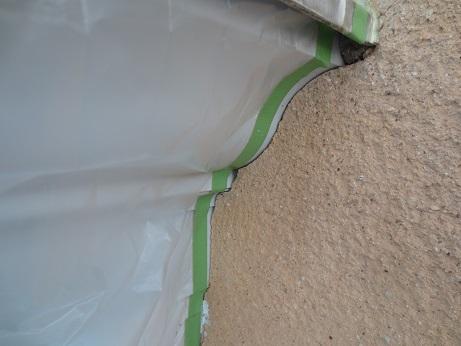外壁屋根改修工事出窓の隙間