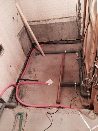 築40年浴室配管