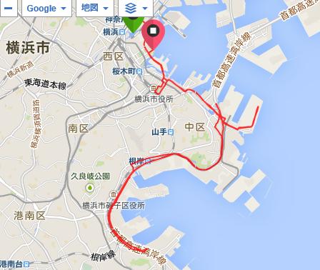 横浜マラソン地図