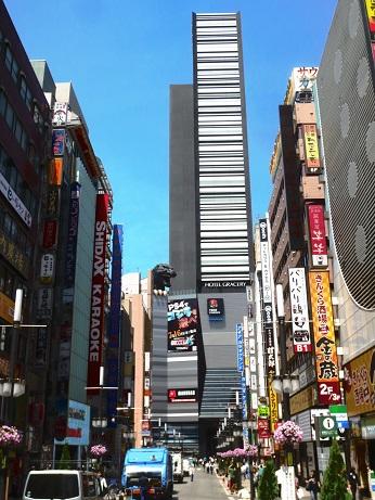 新宿東宝ビルゴジラ