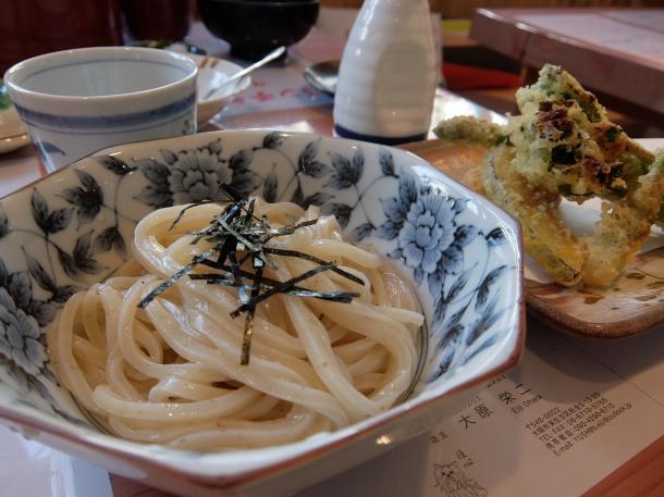 5種野菜の焼き天ぷらうどん