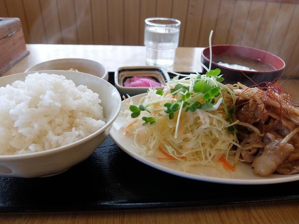 豚ロースの味噌だれ焼き定食