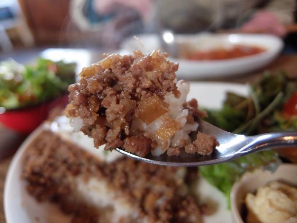 ひき肉とナスのジンジャー炒めライス