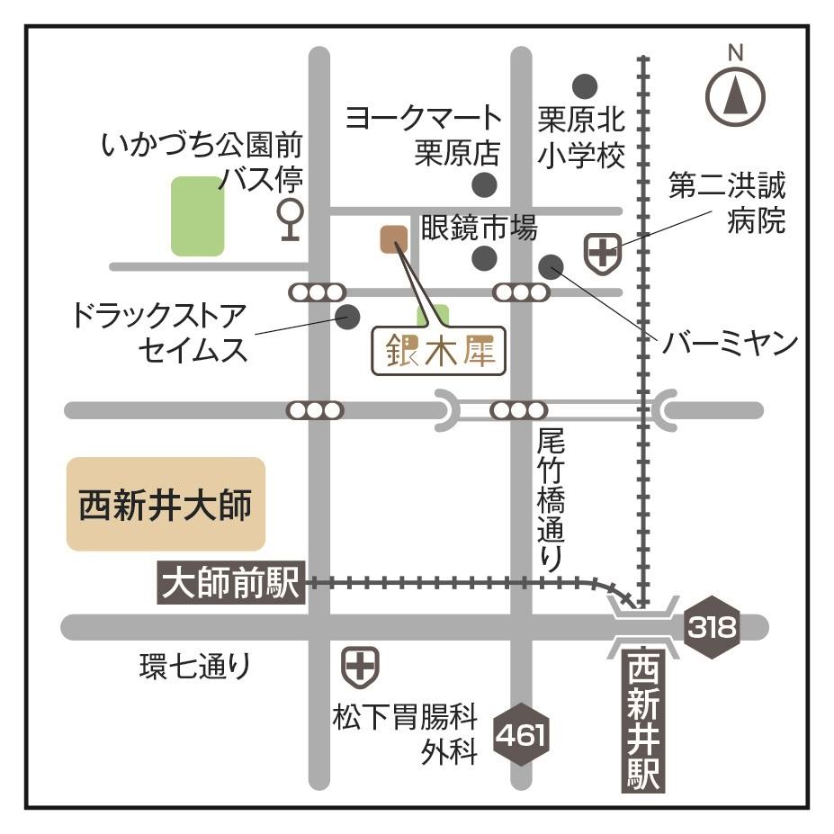 西新井大師_地図