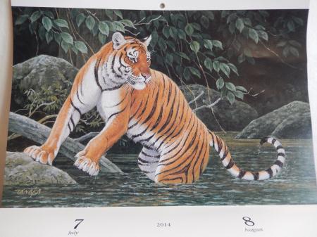 田中豊美 2014 カレンダー 7・8月