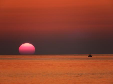 青谷海岸 漁船