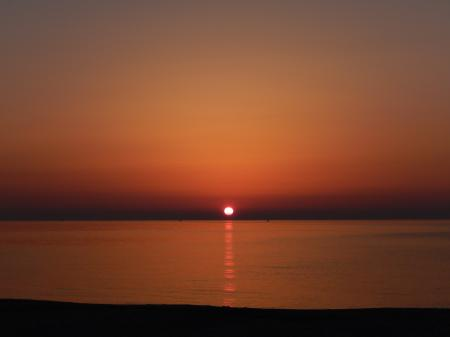 青谷海岸 夕焼け