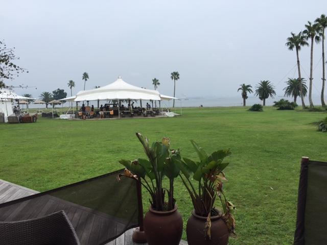 結婚式外の景色