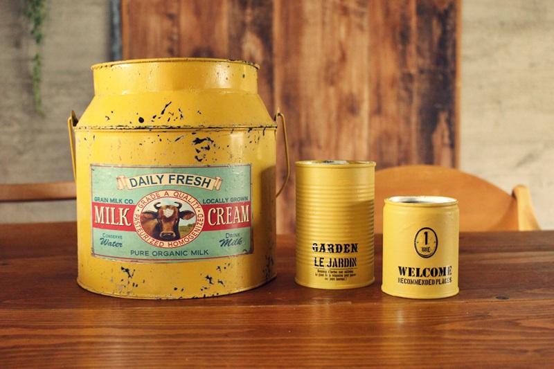 リメ缶とミルク缶