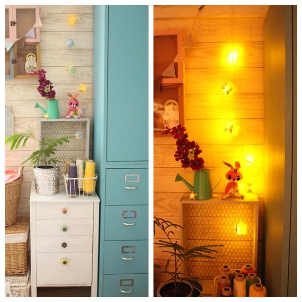 折り紙ランプ