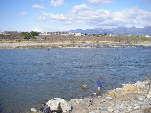 2015年3月24日利根川大渡橋左岸上流午前9時頃(大嶋)
