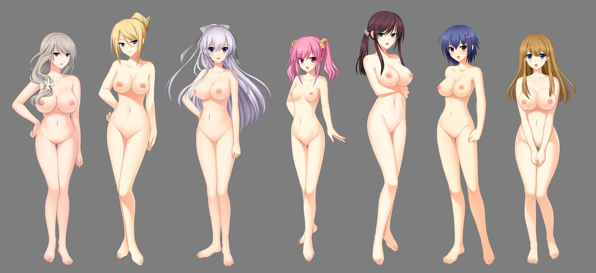聖娼女 性奴育成学園・全裸立ち絵