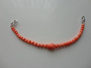 サンゴ羽織紐