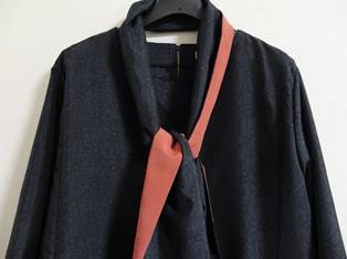 麻の葉織大島紬ワンピース&スカーフ