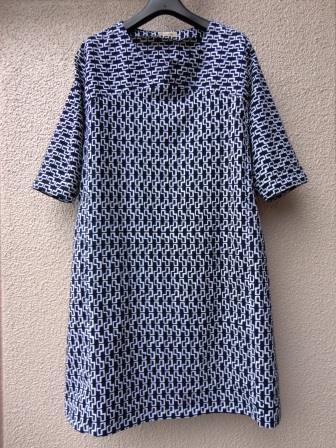 藍染幾何学浴衣ワンピース 1